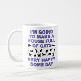 House Full Of Cats Funny Cat Lady Mug