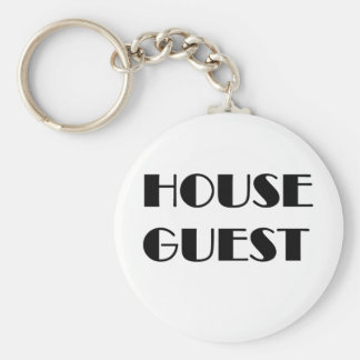 House Guest T-shirts and Gifts. Basic Round Button Keychain