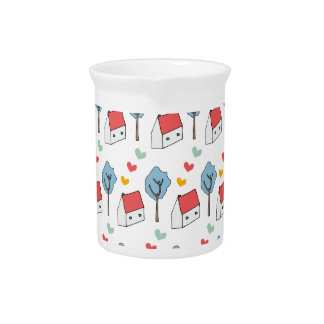House Hearts Beverage Pitcher