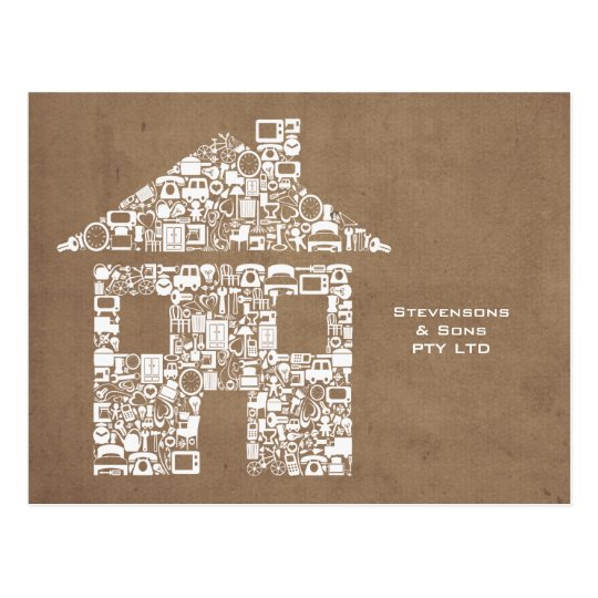House Home Business Promotional Marketing Card