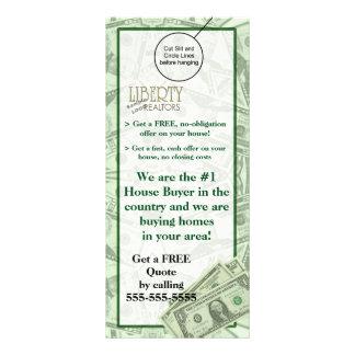 House Home Buyer Door Hanger Brochure Flyer Hanger Rack Card