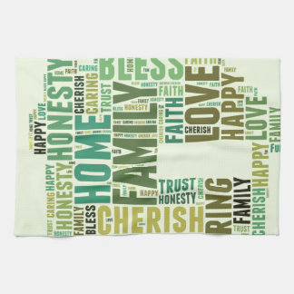 House Home Customize Add Familys Names Towel