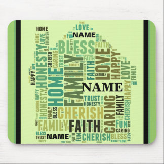 House Home Customize Add Familys Names Mouse Pad