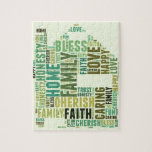 House Home Customize Add Familys Names Jigsaw Puzzle