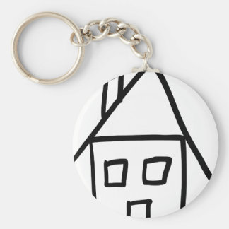 house home living icon keychain