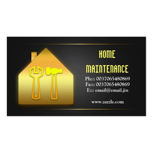 House home maintenance business cards zazzle for Home repair business cards