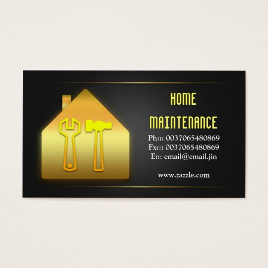 House home maintenance business cards zazzlecom for Property maintenance business cards