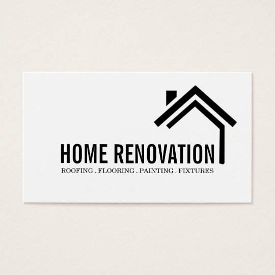 House home remodeling renovation construction business card zazzle house home remodeling renovation construction business card reheart Choice Image