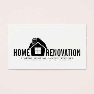 Paint renovate business cards templates zazzle house home remodeling renovation construction business card colourmoves