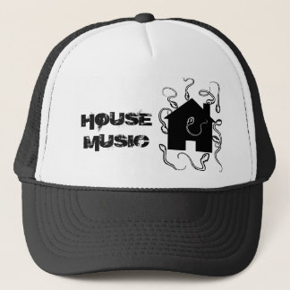 house, HOUSE MUSIC Trucker Hat