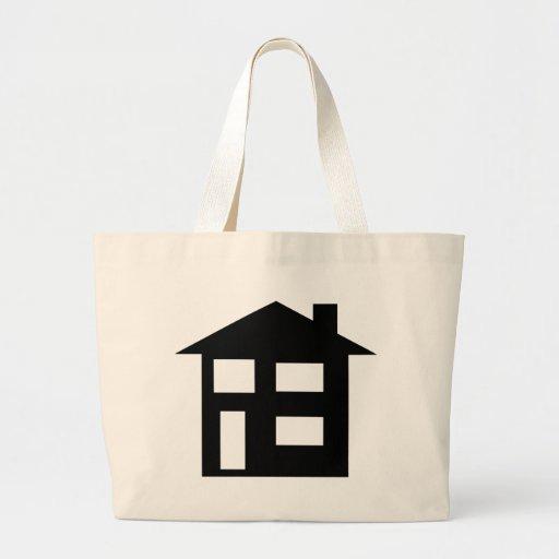 house icon canvas bag