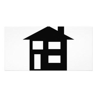 house icon custom photo card