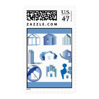 house-icon-set11 timbres postales