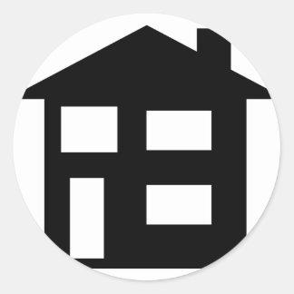 house icon round sticker