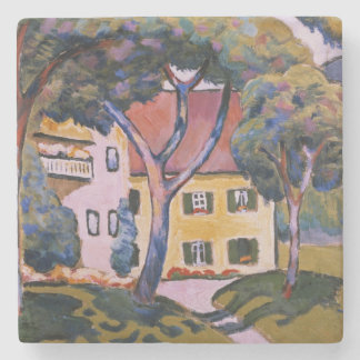 House in a Landscape Stone Coaster