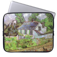 House in Auvers,Vincent van Gogh Computer Sleeve