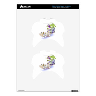 House in balance with pile of euro coins and notes xbox 360 controller skin