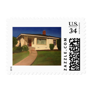 House in California Postage Stamp
