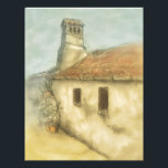 "house in coimbra portugal colored drawing letterhead<br><div class=""desc"">great gifts &amp; products with a colored pencil drawing of a little old house in the city of coimbra in portugal. old european urban artwork by frank glerum.</div>"