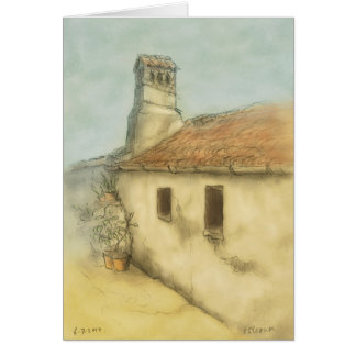 house in coimbra portugal drawing card