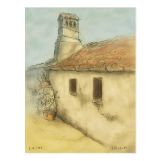 house in coimbra portugal drawing postcard