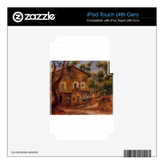 House in Collett at Cagnes by Pierre-Auguste Renoi Skin For iPod Touch 4G