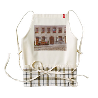 House in Gruyere village, Switzerland Zazzle HEART Apron