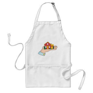 House in Hand Adult Apron