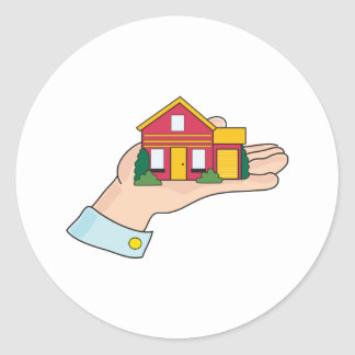 House in Hand Classic Round Sticker