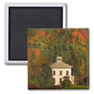 House in New England Autumn Magnet