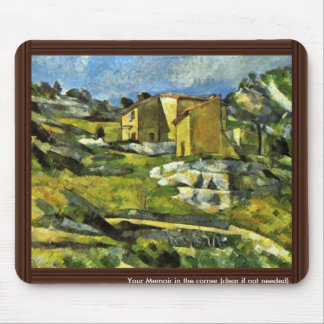 House In Provence By Paul Cézanne (Best Quality) Mouse Pad