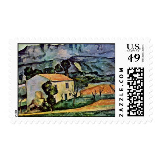 House In Provence By Paul Cézanne (Best Quality) Stamp