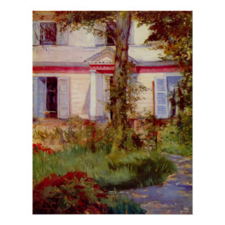 House in Rueil by Edouard Manet Poster