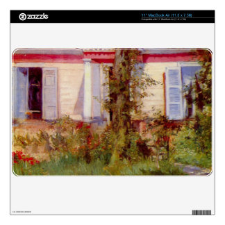 House in Rueil by Edouard Manet Skin For The MacBook