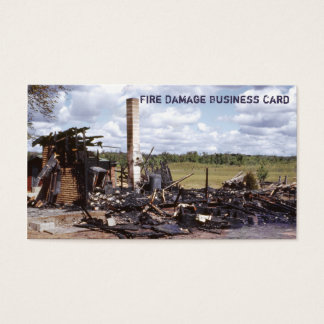 House In Ruins Fire Damage Restoration Service Business Card