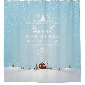 Christmas Wreath Shower Curtains | Zazzle
