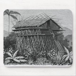 House in the Arfak village of Memiwa, New Guinea Mouse Pad