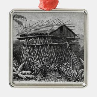 House in the Arfak village of Memiwa, New Guinea Christmas Tree Ornaments