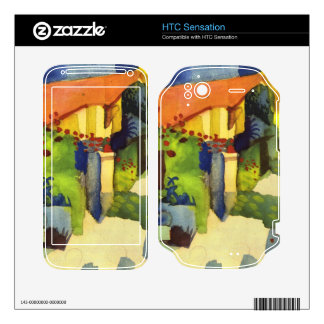 House in the Garden by August Macke HTC Sensation Skins