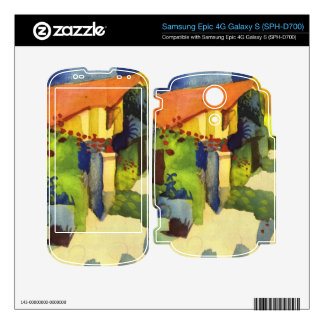 House in the Garden by August Macke Skin For Samsung Epic