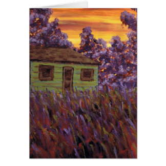 House in the Grass Greeting Card