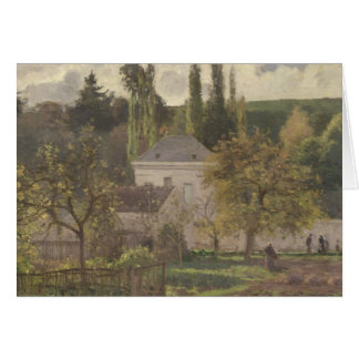 House in the Hermitage, Pontoise, 1873 Greeting Cards