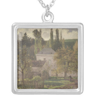 House in the Hermitage, Pontoise, 1873 Silver Plated Necklace