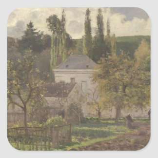 House in the Hermitage, Pontoise, 1873 Square Sticker