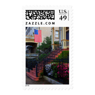 House in the Historic District in the spring Stamp