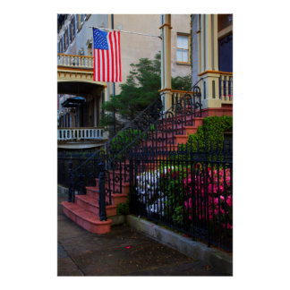 House in the Historic District in the spring Poster
