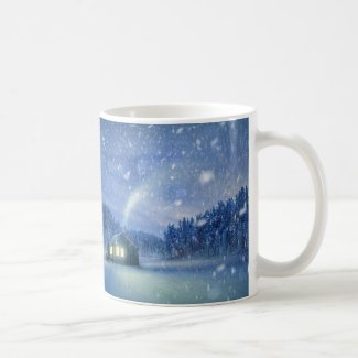 House in the Snow Coffee Mug