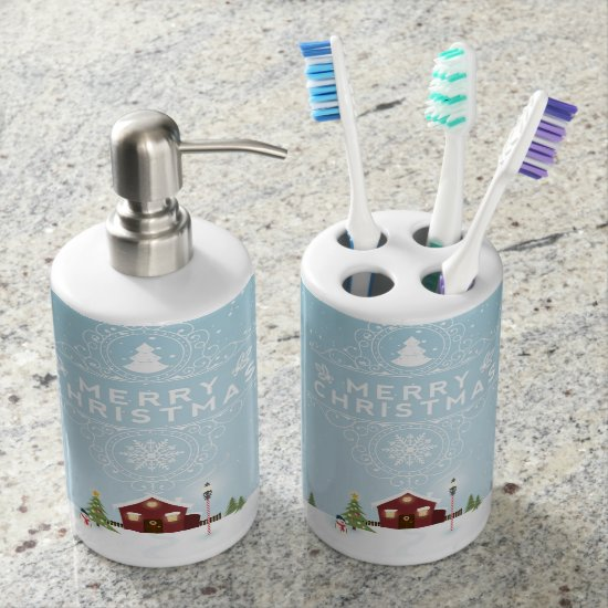 House in the Snow Toothbrush Holder