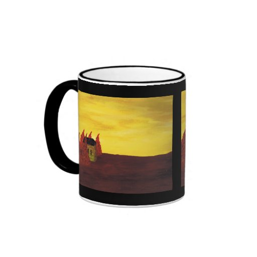 house in the trees coffee mugs
