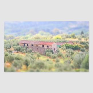 House in the Tuscany Rectangular Sticker